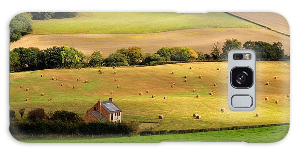 Farmhouse In English Field Galaxy Case