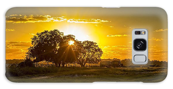 Fence Post Galaxy Case - Farmland Sunset by Marvin Spates