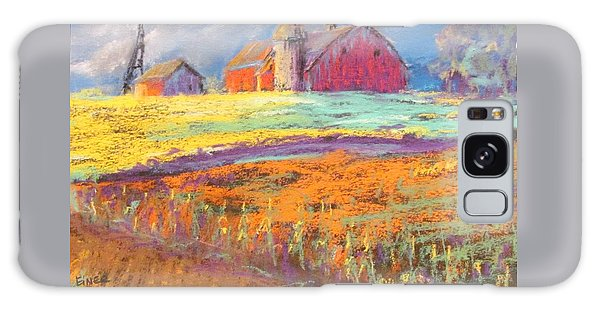 Farmland Sunset Galaxy Case