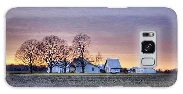 Farmstead At Sunset Galaxy Case