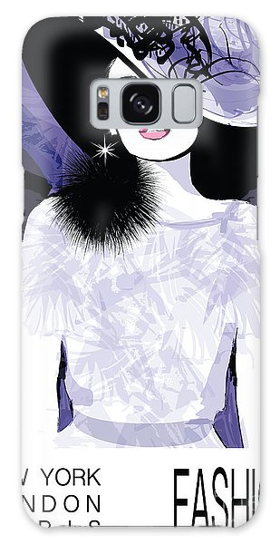 Dress Galaxy Case - Fashion Woman Model With A Black Hat - by Isaxar