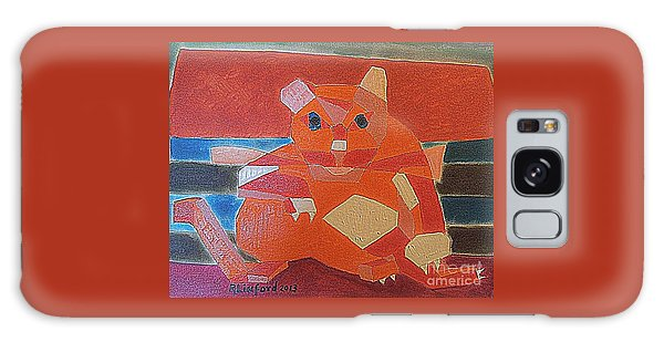 Fat Cat On A Hot Chaise Lounge Galaxy Case by Richard W Linford