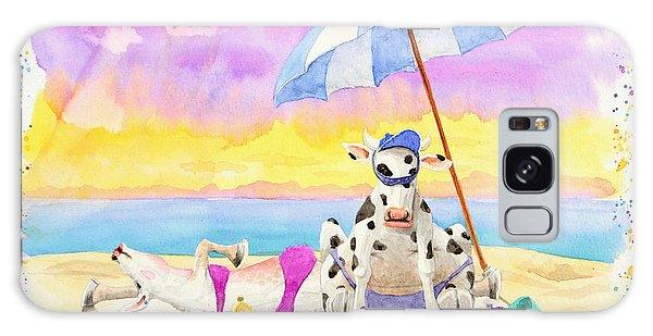 Fat Cows On A Beach 2 Galaxy Case