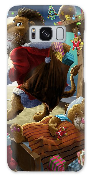 Father Christmas Lion Delivering Presents Galaxy Case
