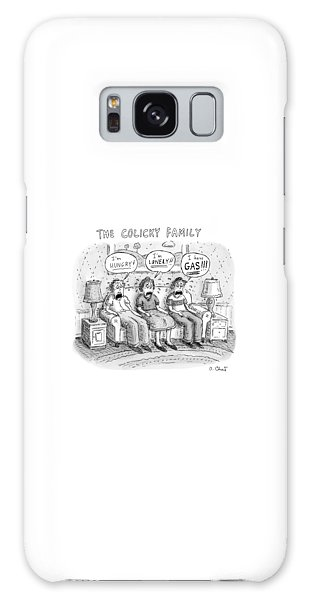 Whining Galaxy Case - Father, Mother And Son Sitting On A Couch, Each by Roz Chast