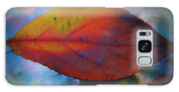 Fauvist Hydrangea Leaf Galaxy Case