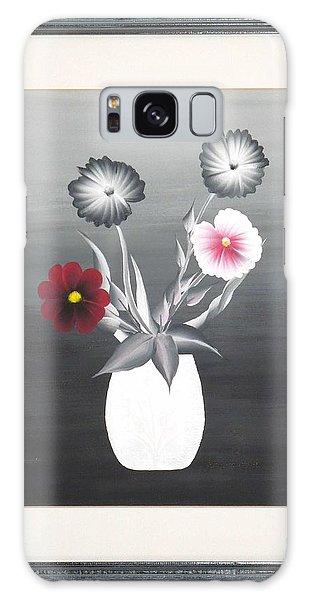 Faux Flowers II Galaxy Case by Ron Davidson