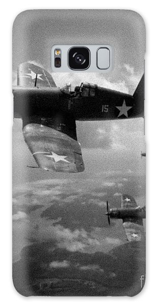 Faux Wwii Corsair Photo Galaxy Case by Stephen Roberson