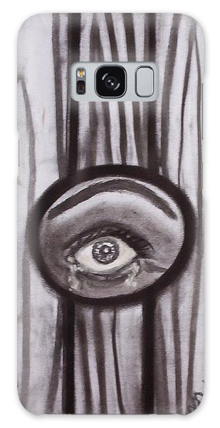 Fear - Eye Through Fence Galaxy Case