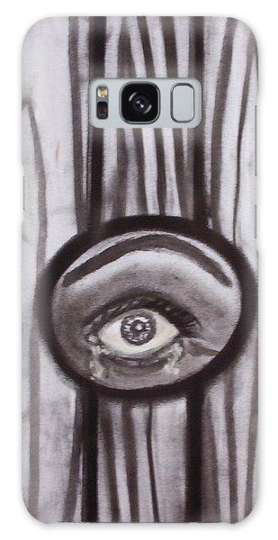 Fear - Eye Through Fence Galaxy Case