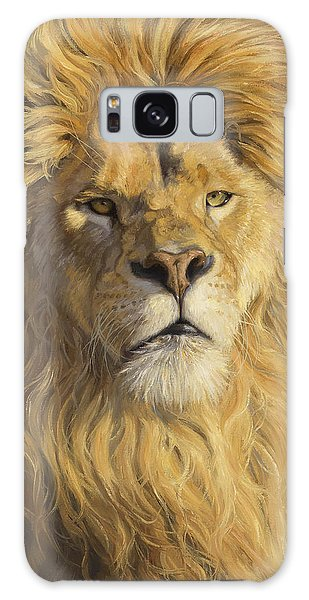 Lion Galaxy Case - Fearless - Detail by Lucie Bilodeau