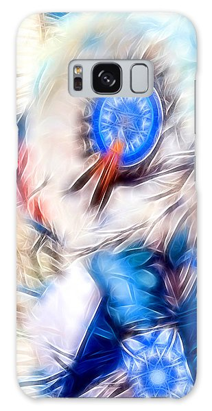 Feather Abstract In Blue Galaxy Case