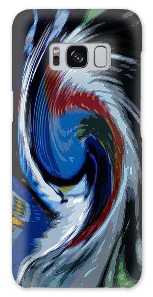 Feather Whirl Galaxy Case by Randy Pollard