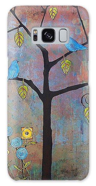 Bluebird Galaxy S8 Case - Feathered Friends by Blenda Studio
