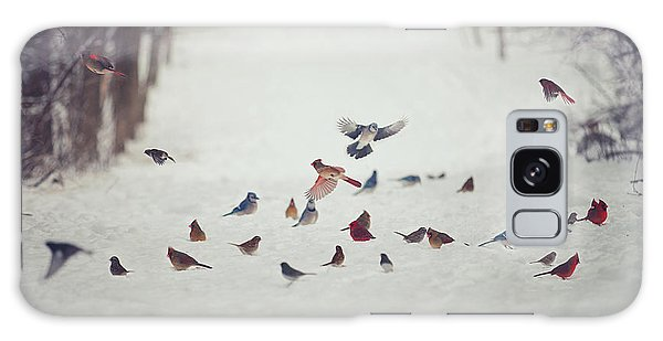 Winter Galaxy Case - Feathered Friends by Carrie Ann Grippo-Pike