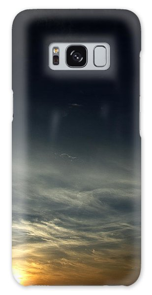 Feathery Clouds Galaxy Case