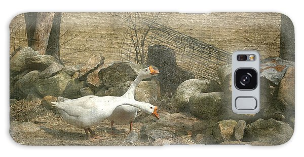 Feeding Geese   Galaxy Case by Betty  Pauwels