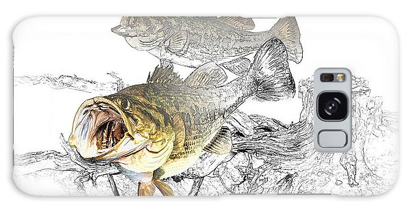 Feeding Largemouth Black Bass Galaxy Case