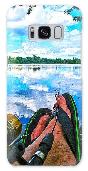 Feet Up Fishing Crab Orchard Lake Galaxy Case by Jeff Kurtz