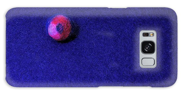 Felt Ball On Blue Felt Galaxy Case