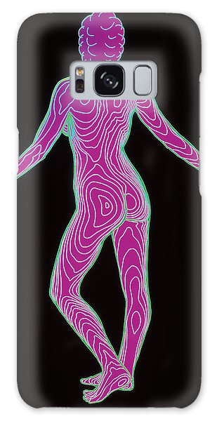 Contour Galaxy Case - Female Body Map by Dr Robin Williams/science Photo Library