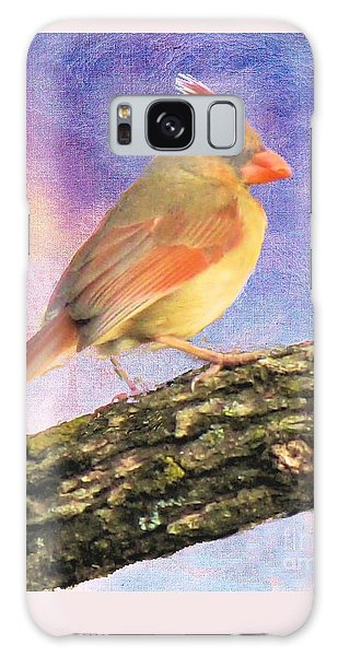 Female Cardinal Away From Sun Galaxy Case