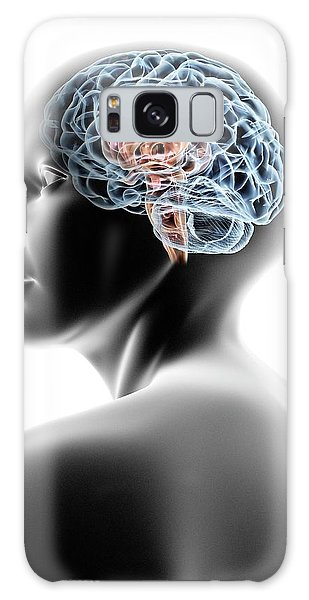 Brainstem Galaxy Case - Female Human Head With Brain by Pasieka
