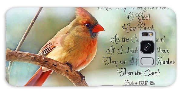 Female Northern Cardinal With Verse Galaxy Case