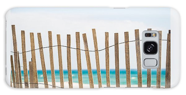 Fence On The Beach Galaxy Case by Shelby  Young