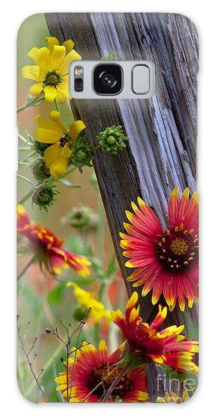 Fenceline Wildflowers Galaxy Case by Robert Frederick