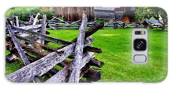 Fences At Burnside Plantation Bethlehem Pa Galaxy Case