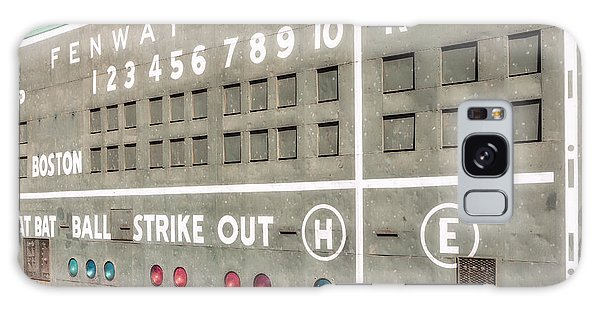 Galaxy Case featuring the photograph Fenway Park Scoreboard by Susan Candelario