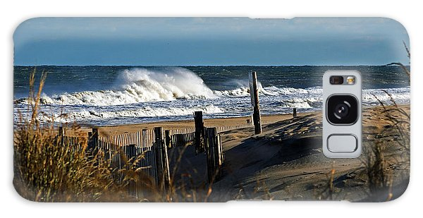 Fenwick Dunes And Waves Galaxy Case by Bill Swartwout