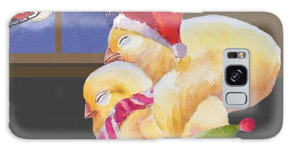 Baby Chicks Night Before Christmas Galaxy Case