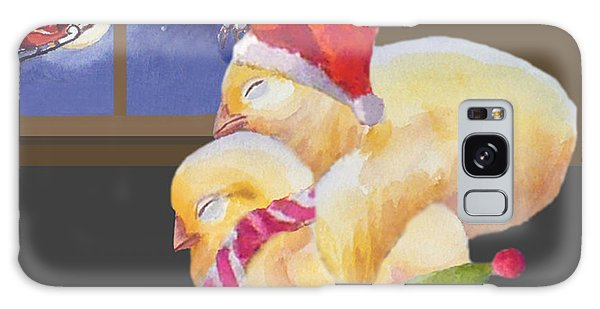 Baby Chicks Night Before Christmas Galaxy Case