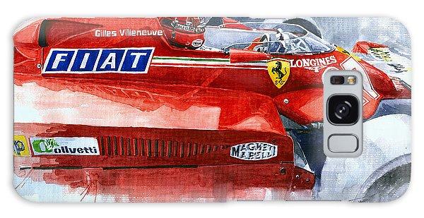 Sport Car Galaxy Case - Ferrari 126c Silverstone 1981 British Gp Gilles Villeneuve by Yuriy Shevchuk