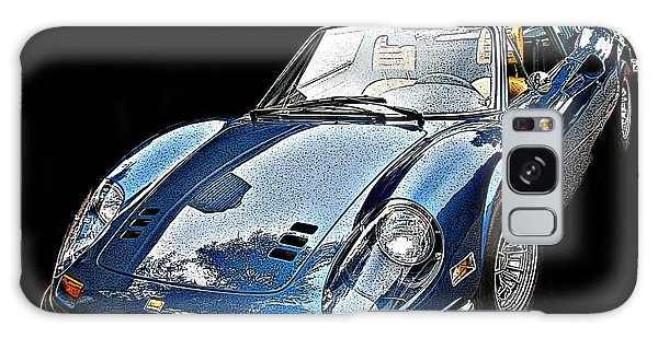 Ferrari 246 Gt Dino 3/4 Front View Galaxy Case by Samuel Sheats