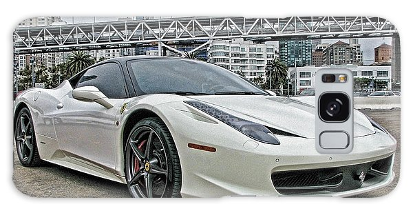 Ferrari 458 Italia In White Galaxy Case
