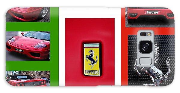 Dual Exhaust Galaxy Case - Ferrari Collage On Italian Flag by Kaye Menner