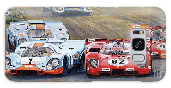 Car Galaxy S8 Case - Ferrari Vs Porsche 1970 Watkins Glen 6 Hours by Yuriy Shevchuk