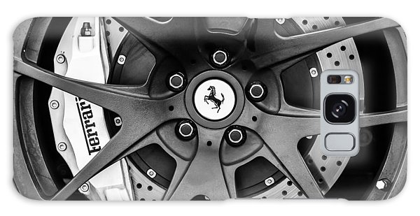 Ferrari Wheel Emblem - Brake Emblem -0430bw Galaxy Case