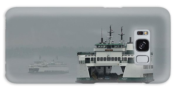 Ferries Pass In The Fog Galaxy Case