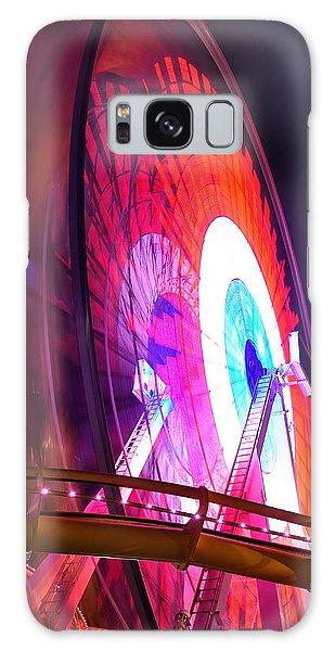 Ferris Wheel Galaxy Case by Gandz Photography