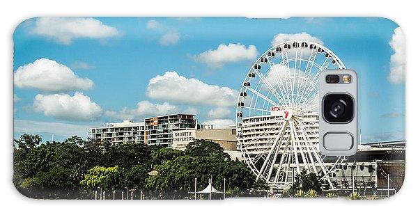Ferris Wheel On The Brisbane River Galaxy Case by Parker Cunningham