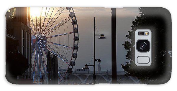 Ferris Wheel Sunset 1 Galaxy Case