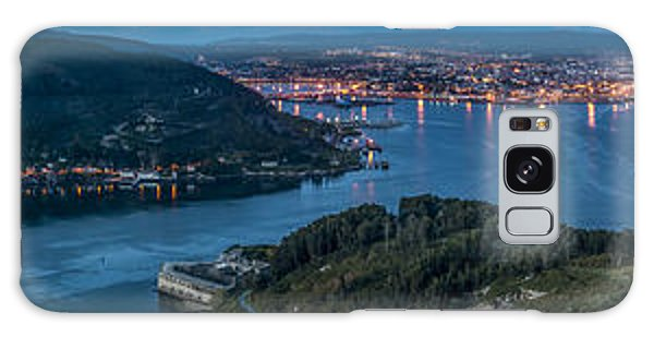 Ferrol's Estuary Panorama From La Bailadora Galicia Spain Galaxy Case by Pablo Avanzini