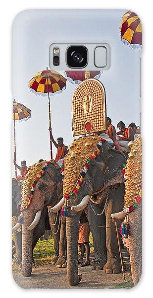 Kerala Festival Elephants Galaxy Case by Dennis Cox WorldViews