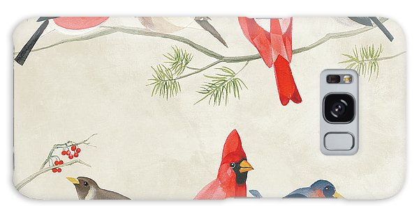 Festive Birds I Galaxy Case by Danhui Nai