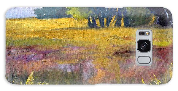 Field Grass Landscape Painting Galaxy Case