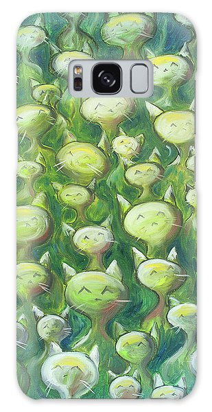 Galaxy Case - Field Of Cats by Nik Helbig